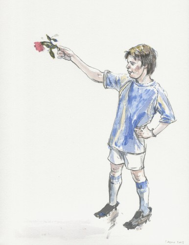 Boy with a Rose